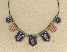 Bead Pattern - USA Patriotic Necklace