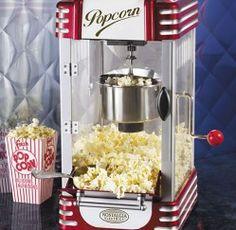 Retro Popcorn Machine for your entertaining needs! www.premiergiftsolutions.com
