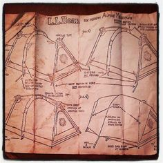 Thanks to Facebook fan Beth H. for sharing a photo of her tent set up instructions.  She still has her #LLBean tent from when she was a little girl.