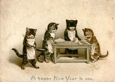 Tarjetas de Navidad: 19 felicitaciones navideñas 'vintage' (FOTOS)