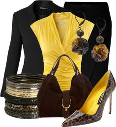 """#""""Office Leopard"""" by xx8763xx on Polyvore  Office clothes #2dayslook #fashion #new #nice #Officeclothes  www.2dayslook.com"""