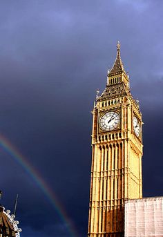 Rainbow at Big Ben