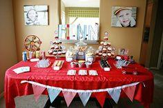 birthday theme, birthday parties, dessert tabl, sock monkey, toy parti, retro toy, vintage toys, parti idea, vintag toy
