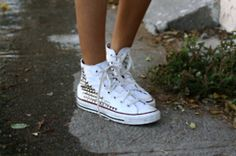 DIY studded chucks