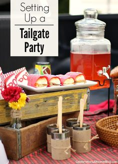 Setting Up A Tailgate Party — Celebrations at Home #football #fall #tailgating