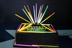Laser tag themed cake, I went in with an idea in my head and described it, they got it perfect!
