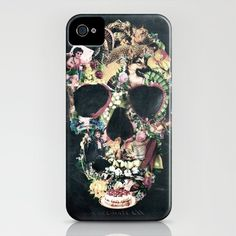 Vintage Skull iPhone Case by Ali GULEC - $35.00