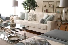 decor, coffee tables, white living, living rooms, couch, color schemes, colors, live room, blues