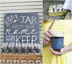 Mason jar favors for your guests