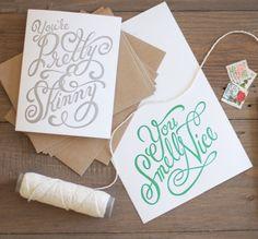 Say Something Nice Twice - Box Set Letterpress Cards - 6 Cards