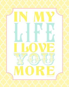 in my life