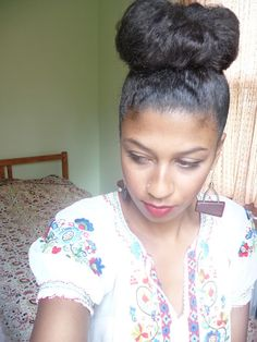 Chic High Bun Tutorial! | Curly Nikki | Natural Hair Styles and Curly Hair Care