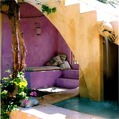 comfy and colorful outdoor space