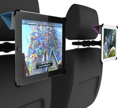 CoulVue mounts your iPad 2 securely to the back of any standard car headrest, allowing backseat passengers to watch movies, browse the web, listen to music, and play games. It's the perfect accessory for creating an immersive entertainment experience for your passengers