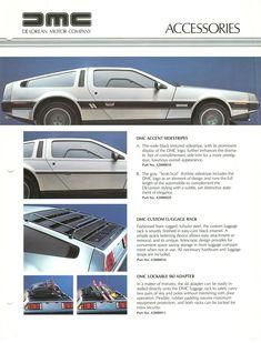 DeLorean accessories brochure