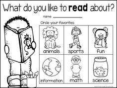 Back to School survey to find out reading interests of your students. Free download.