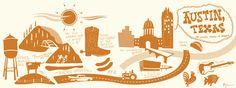 Austin, Texas Starting Point:1100 Congress Avenue, Austin, TX Artist:Bryan Spear From:Austin, Texas Website:http://www.bottlerocketdesigns.com