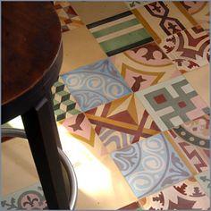 Encaustic Patchwork contemporary floor tiles