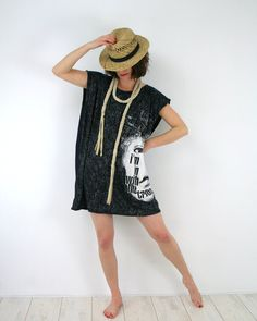 Oversized cotton tshirt - mini dress www.bartinki.com