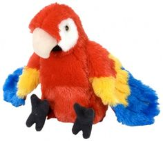 Mini Macaw Scarlet Parrot Cuddlekins at theBIGzoo.com, a toy store with over 12,000 products.