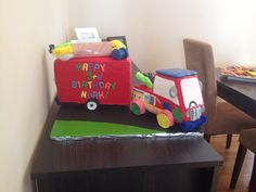 """Mister Maker"" makermobile cake.... Board was unfinished in these pics..."