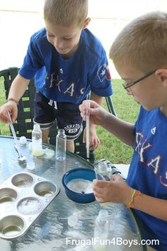Does it React? Science Lab Play - Frugal Fun For Boys