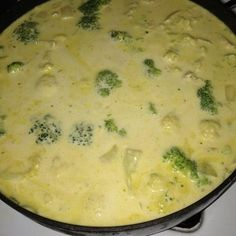 My personal recipe for - CAULIFLOWER BROCCOLI CHEESE SOUP - High Fat Low Carb diet.