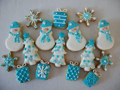 MINI CHRISTMAS BLUE by Galletas divertidas, via Flickr