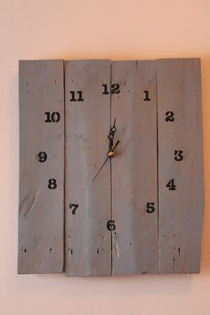 Wood pallet clock rustic wall decor by RusticRedone on Etsy, $25.00