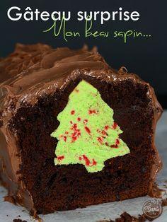 Gâteau au chocolat surprise #sapin #Noël