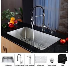kitchens, steel kitchen, kitchen idea, kitchen faucets, dream kitchen, deep sink, kitchen sinks, bowls, stainless steel