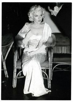 rare photo of Marilyn at the Astor Theatre in New York for the premiere of East of Eden, March 9, 1955