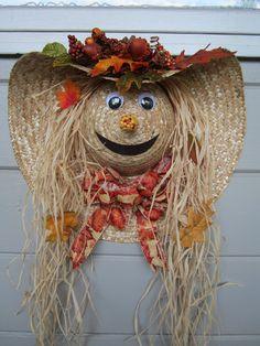 Straw Hat Scarecrow DIY
