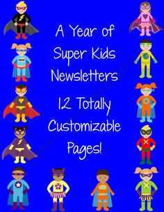 Super Kids Hero Themed Classroom Newsletters product from MsFultzsCorner on TeachersNotebook.com