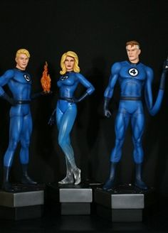 """Fantastic Four statue 3 pack  Sculpted by: Mike Cusanelli    Release Date: July 2012  Edition Size: 500  Order Of Release: Phase V (statue #284)    Each figure stands over 12""""     Features companion bases to The Thing statue (sold separately)"""