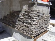 stone veneer - fireplace, BBQ island, backyard wall?