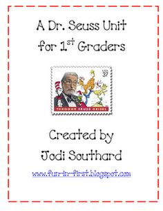dr. seuss unit freebies