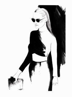 runway sketch, fashion sketch