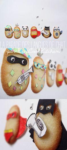 Raconter des histoires en dégustant des petits biscuits ? Oui Oui c'est la parade des langues masquées :)  #kiri #recette #enfant #fun #rigolo #amusant #biscuit #histoire