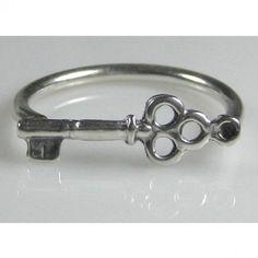 Tiffanys Inspired Antique-Style Skeleton Key Ring