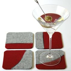 10 felt projects: mod coasters