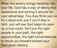 Yes He will.   God doesn't give you more than you can  handle, the enemy does.  God provides you the way out.