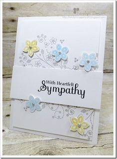 With Heartfelt Sympathy Card butterfli, card idea, card inspir, cart, heartfelt sympathi, easi card, simpl card, sympathi card, print