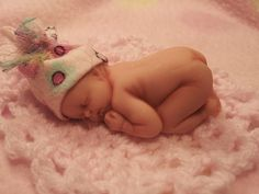 OOAK 2 Polymer Clay Baby Girl Art Doll by Michele by craftomania, $24.95