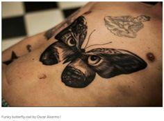 Butterfly Owl tattoo by Oscar Akermo