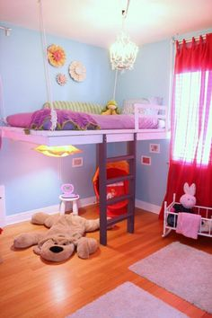 Such a cute loft bed, free plans at Ana-White.com