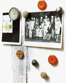Button Magnets - Martha Stewart Crafts
