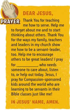 What Does God Say About Serving? Devotion from Compassion Explorer Magazine