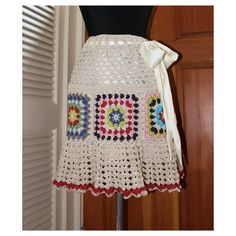 Skirt Granny Square Crochet Convertible Tunic Skirt