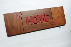HOME  wall sign  reclaimed wood functional wall art